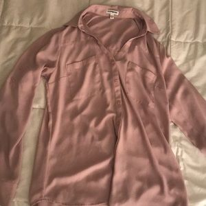 Dusty pink collared blouse